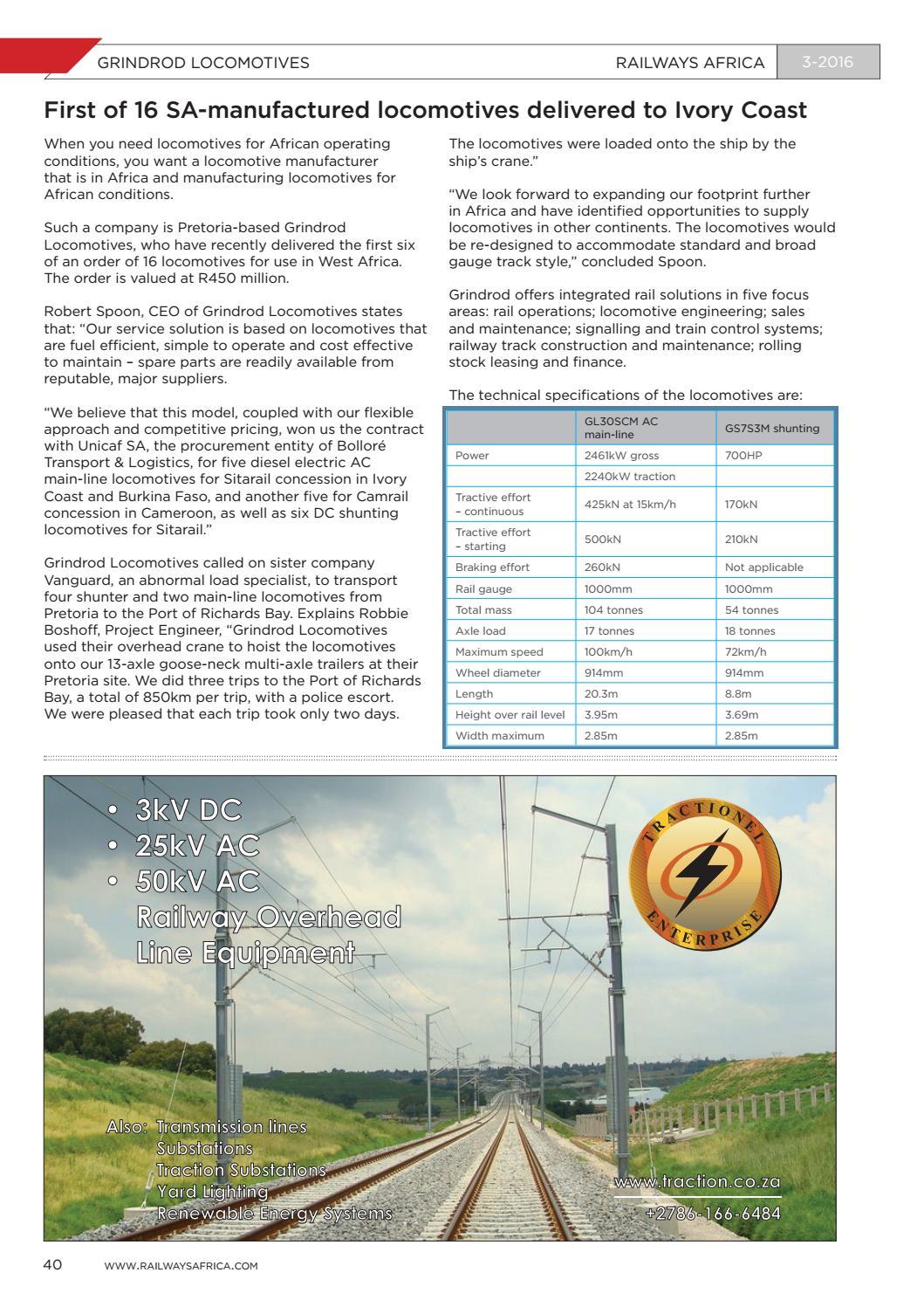 Railways Africa: Issue 3 - 2016 by Railways Africa - issuu