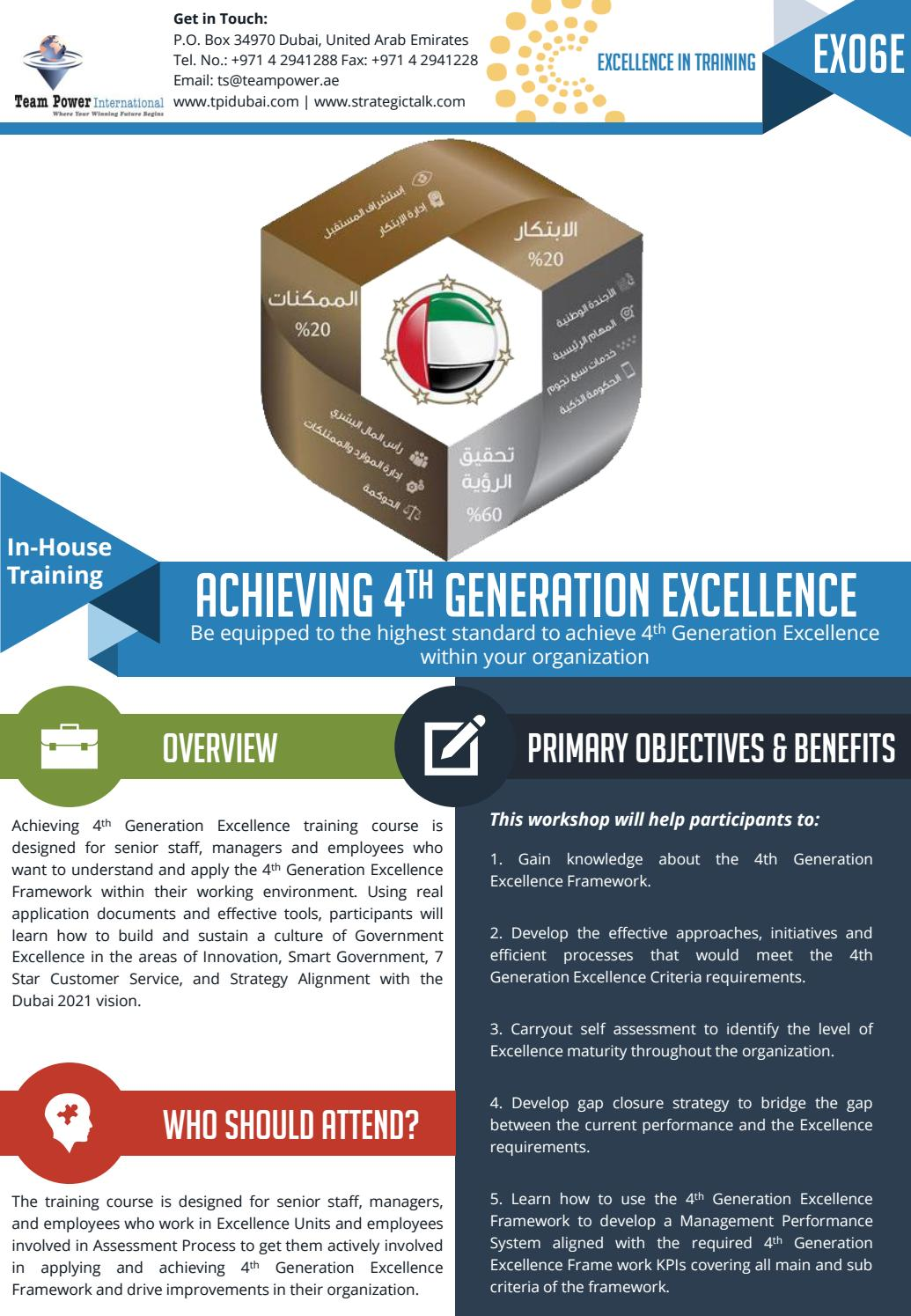 ex06e achieving 4th generation excellence by team power