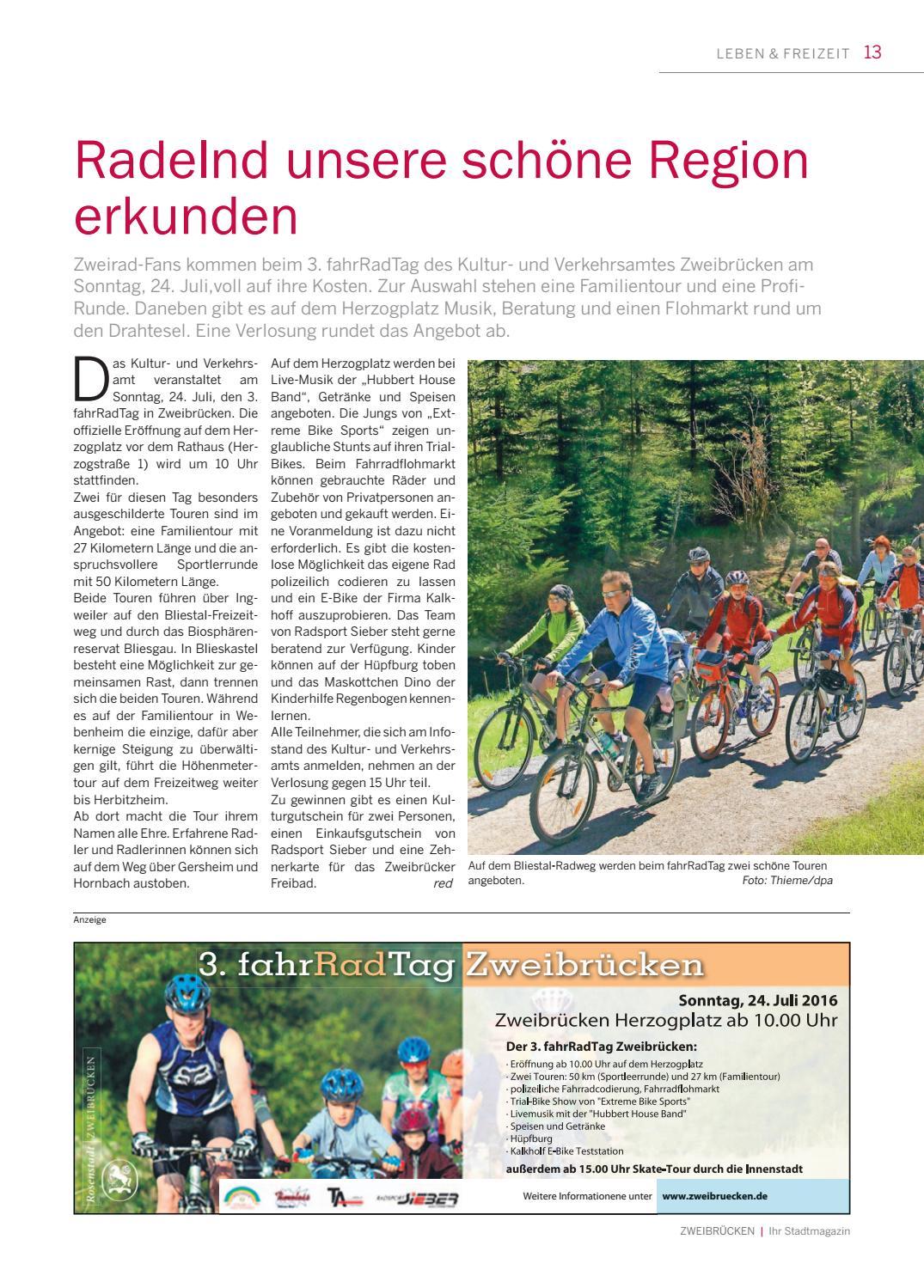 Stadtmagazin Zweibrücken 01|2016 by Saarbrücker VerlagsService GmbH ...
