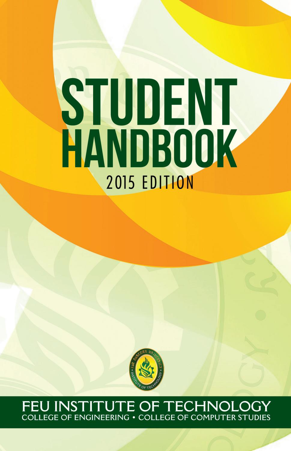 Student Handbook 2016 By Feu Tech Issuu