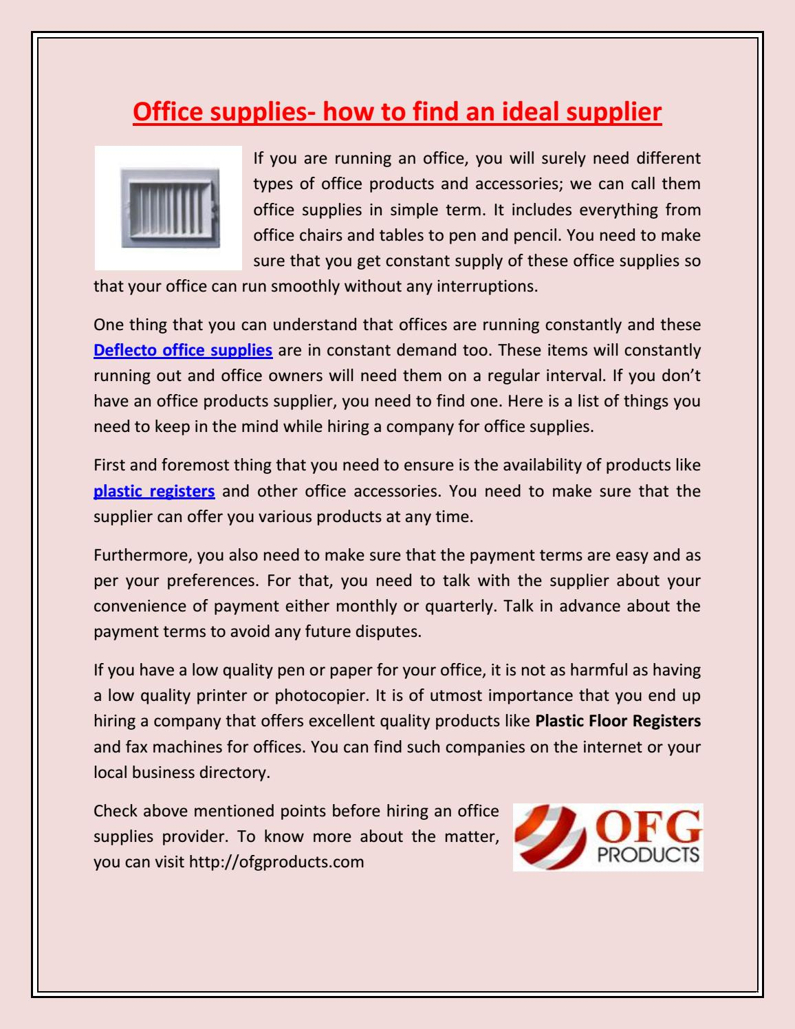 Office Supplies How To Find An Ideal