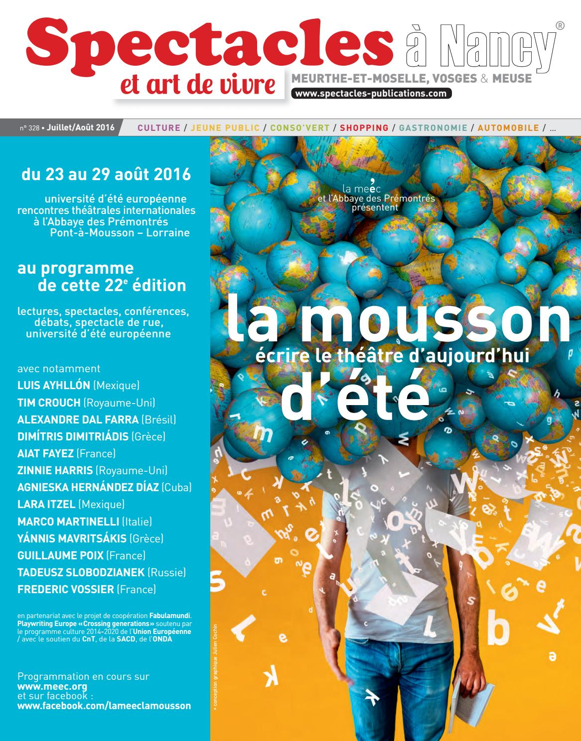Spectacles Publications Nancy n°328   Juillet-Août 2016 by SPECTACLES  PUBLICATIONS - issuu 432f9e88281