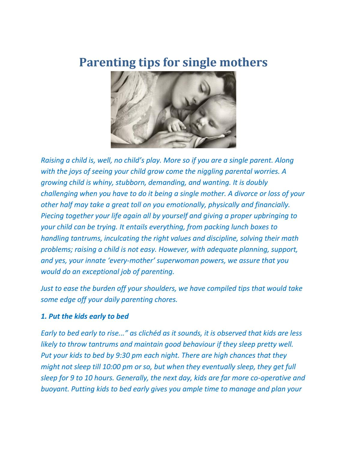 parenting tips for single mothers by ritikashah11998 - issuu