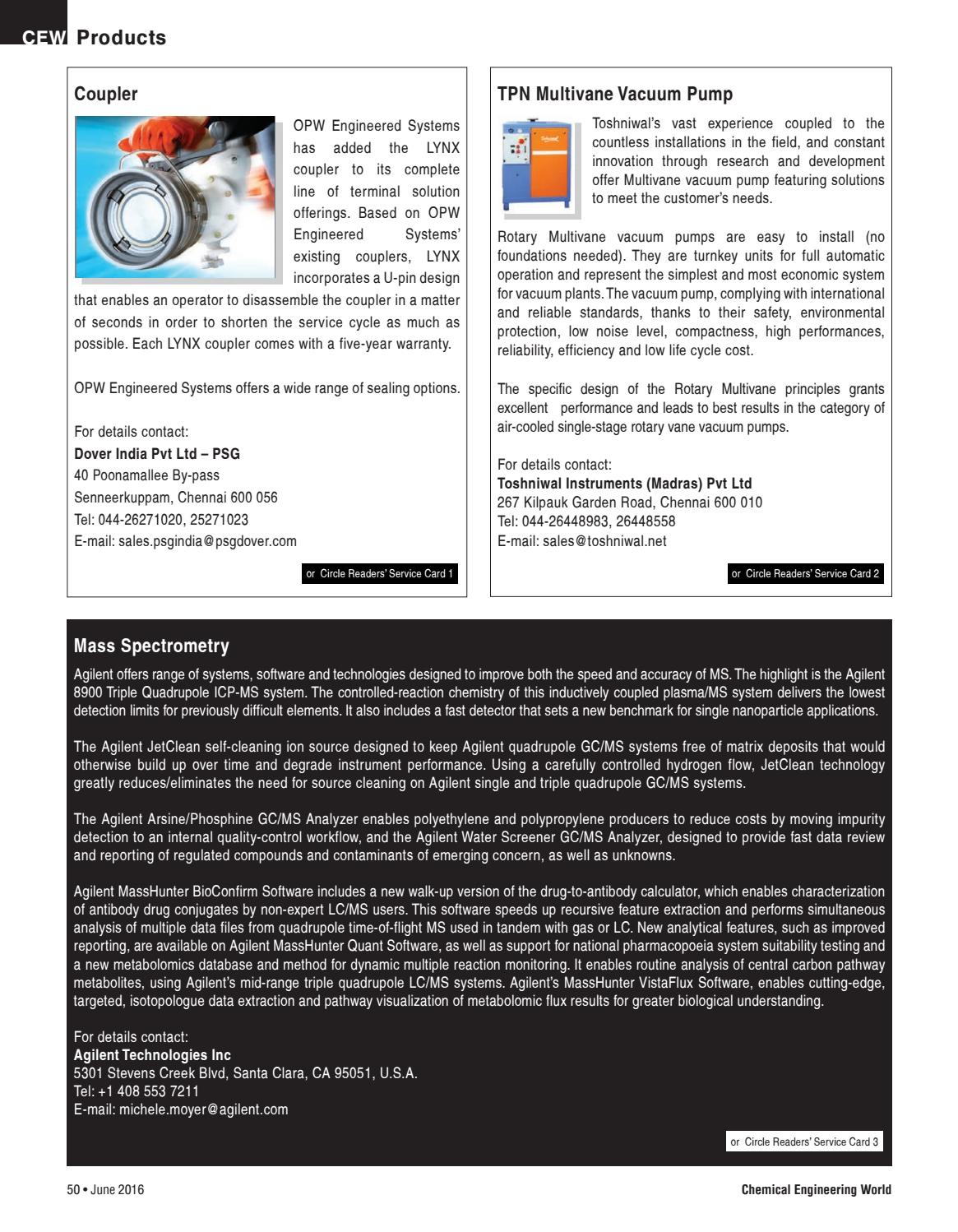 CEW JUNE 2016 by Chemical Engineering World - issuu