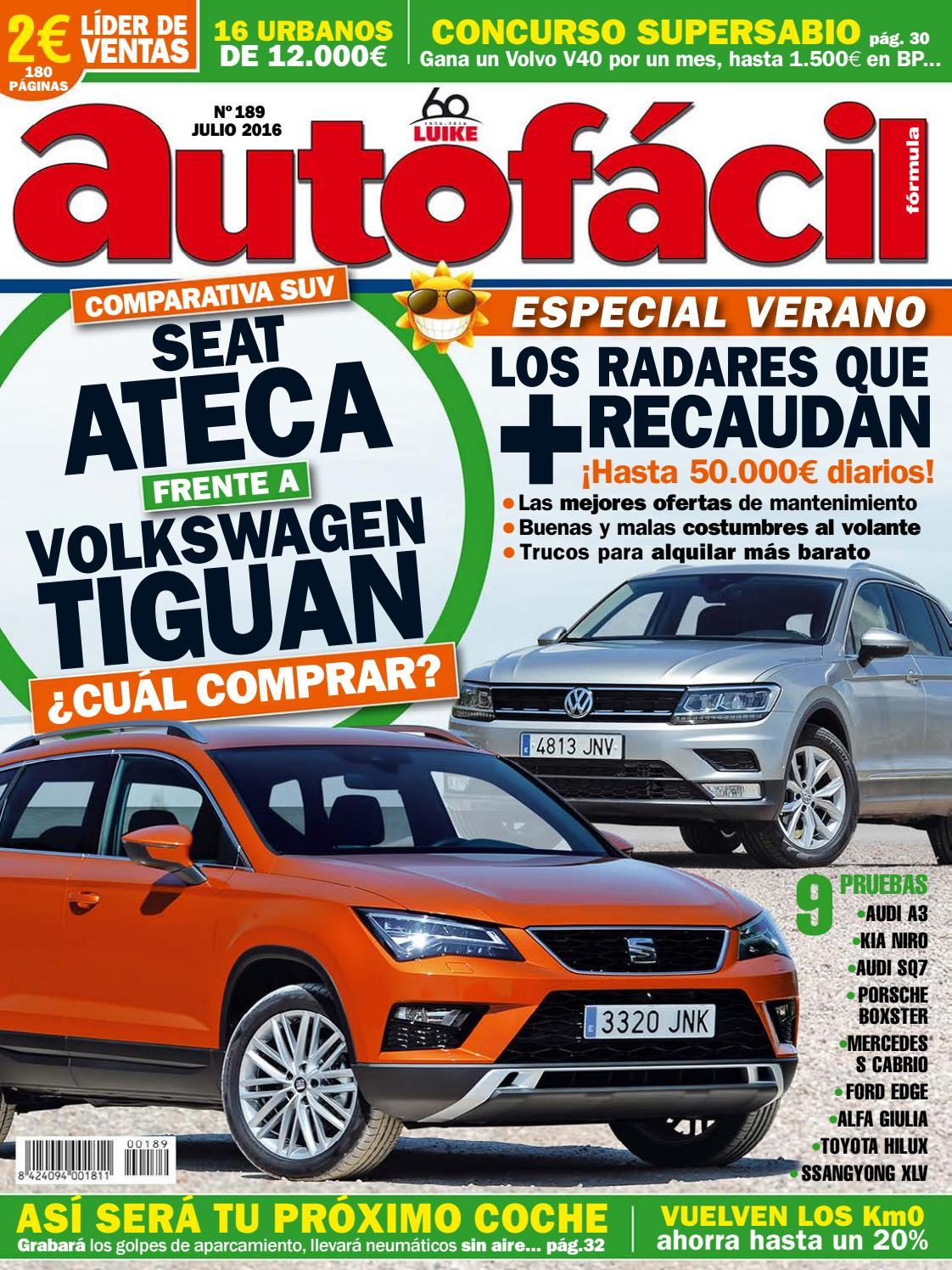 bcde35c00a Autofácil Nº 189. Julio 2016 by LIDER - issuu