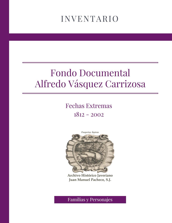 Cat Logo Alfredo V Squez Carrizosa By Archivo Hist Rico Javeriano  # Muebles Roldan Tulua