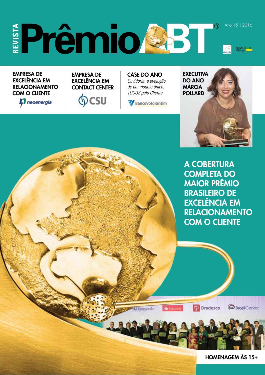 Revista Xv Prêmioabt By Garrido Marketing Issuu