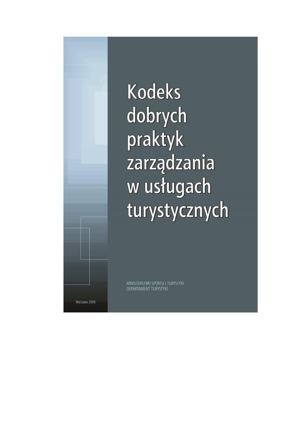 M Kachniewska Kodeks Dobrych Praktyk Zarządzania W Uslugach