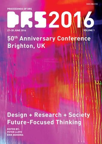 d15b68312b8422 Proceedings of DRS 2016 volume 01 by Erik Bohemia - issuu