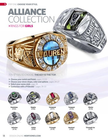 class school rings graduation l high college for personalized her