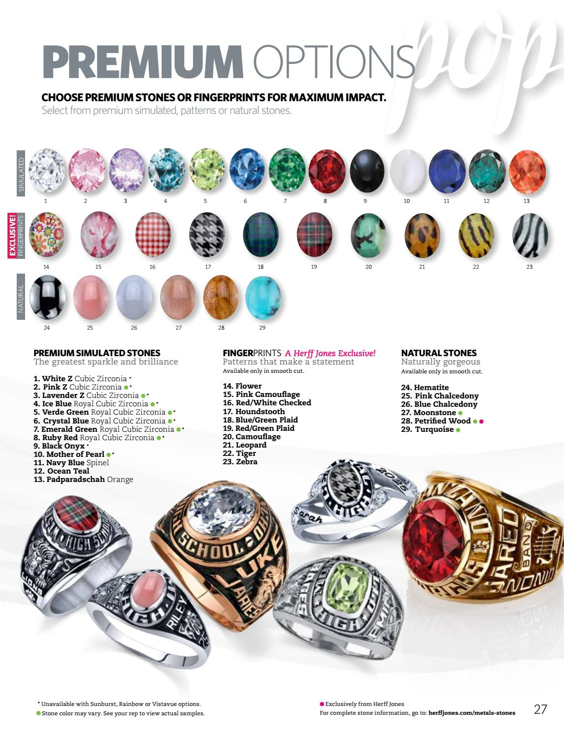 Herff Jones High School Ring Catalog 2017 By Herff Jones