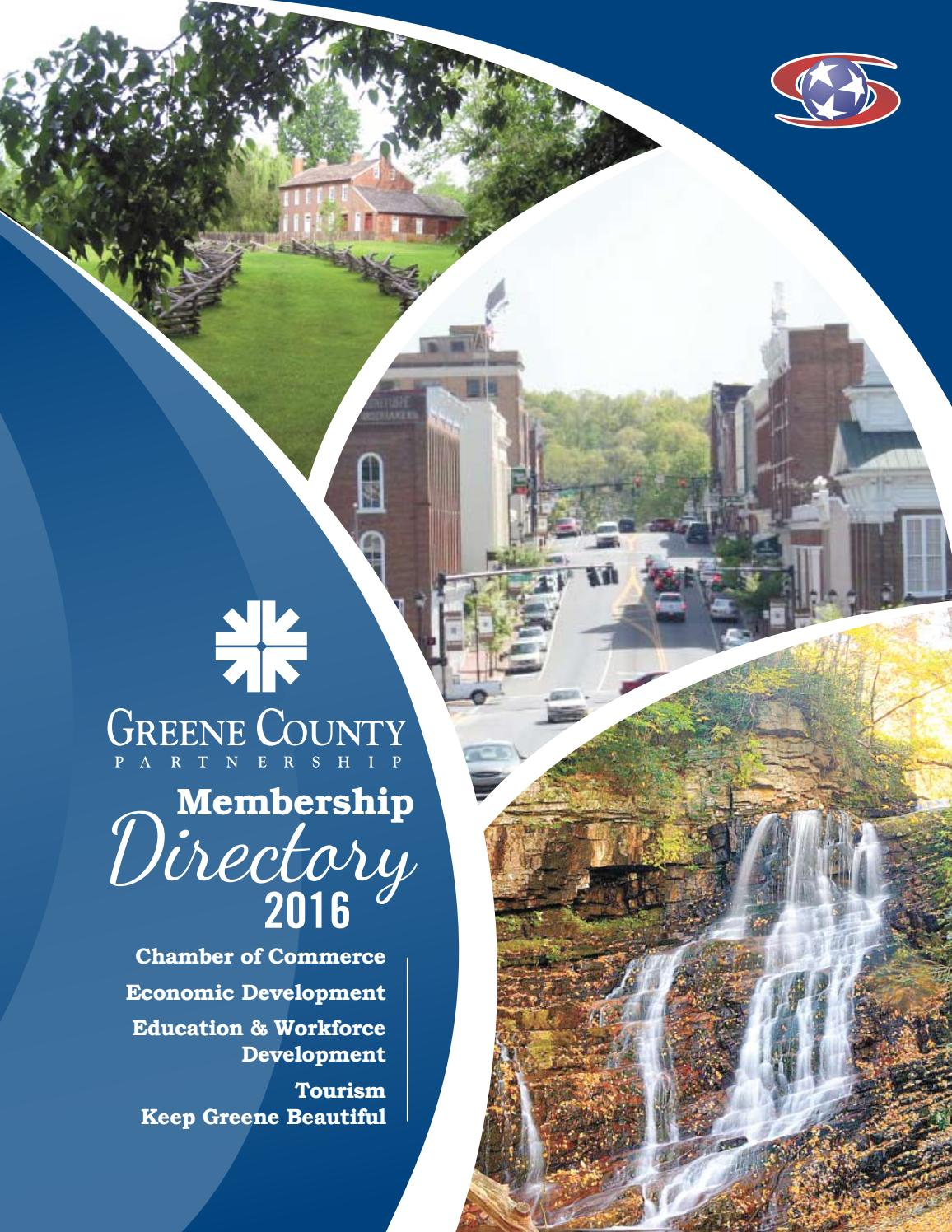 Greene County Partnership Directory 2016 by The Greeneville