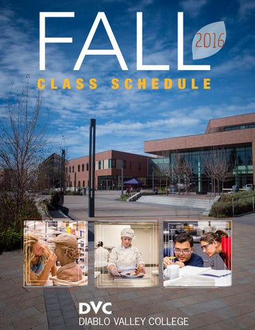 Fall 16 schedule by Diablo Valley College - issuu
