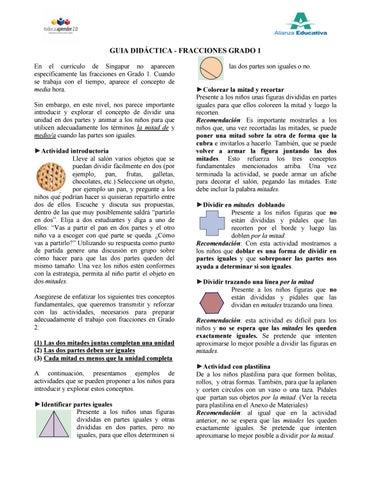 Guía didáctica fracciones grados de 1 a 5 by Justo Emilio De la ...