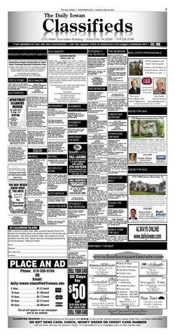 The Daily Iowan - 06/28/16 Classifieds by The Daily Iowan - issuu