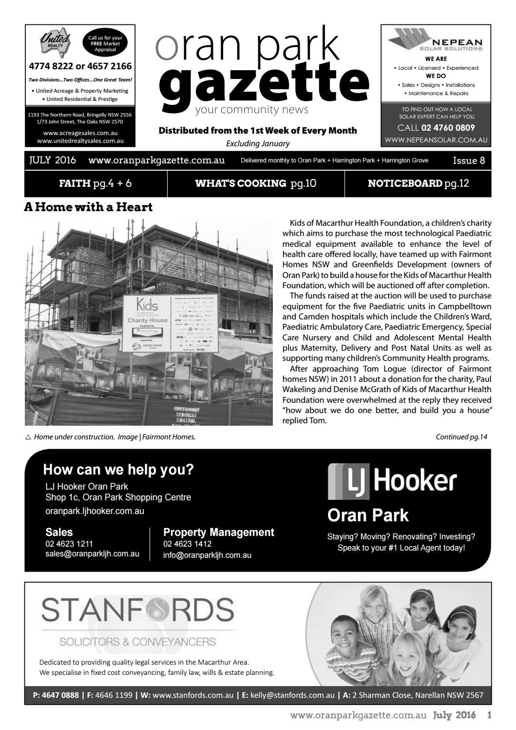Oran Park Gazette July 2016 By Disrict