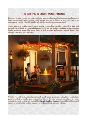 Outdoor Heaters By Firesense Issuu