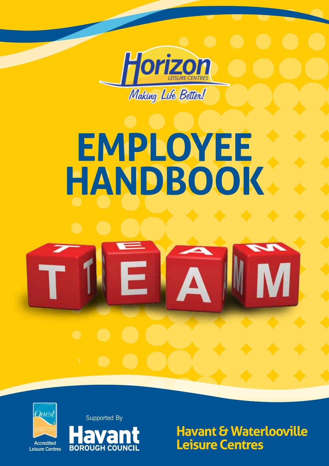 Horizon Leisure Centre Employee Handbook By Horizon Leisure Centre   Issuu