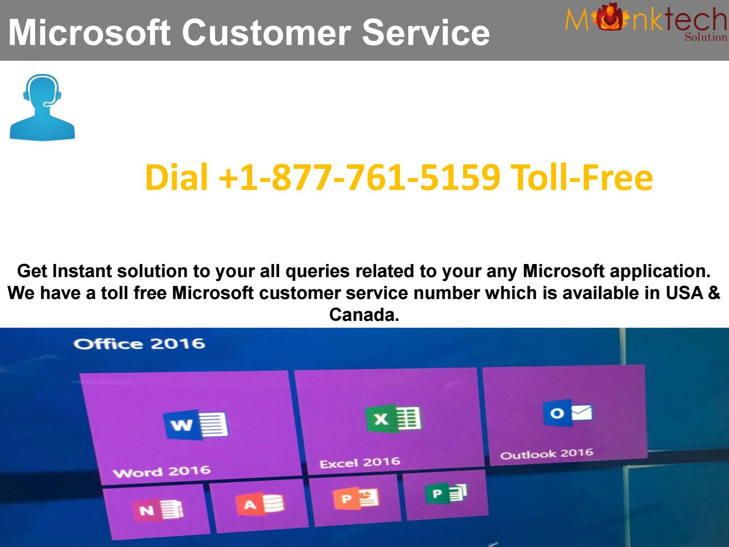 for microsoft customer service dial 1