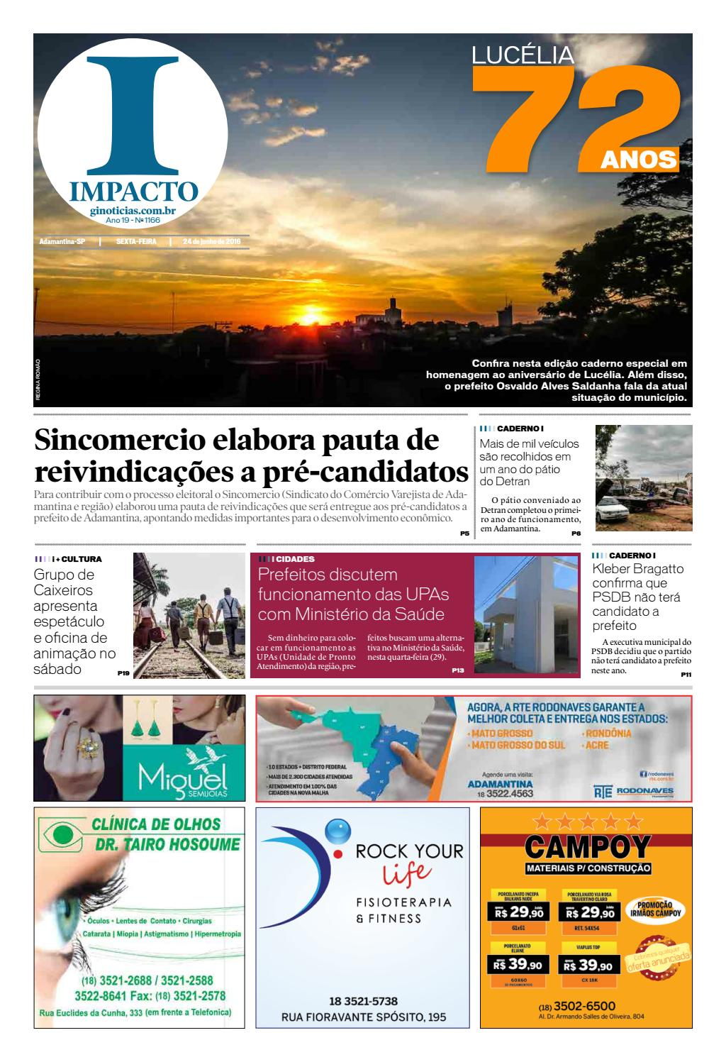 jornal impacto 24 06 2016 by impacto issuu4369 Curso Sebrae Online #17