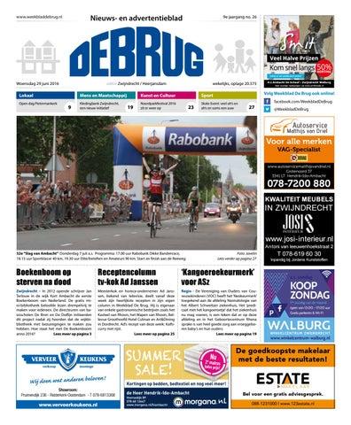 fc95c6a1dd5 Weekblad De Brug - week 26 2016 (editie Zwijndrecht) by Uitgeverij ...