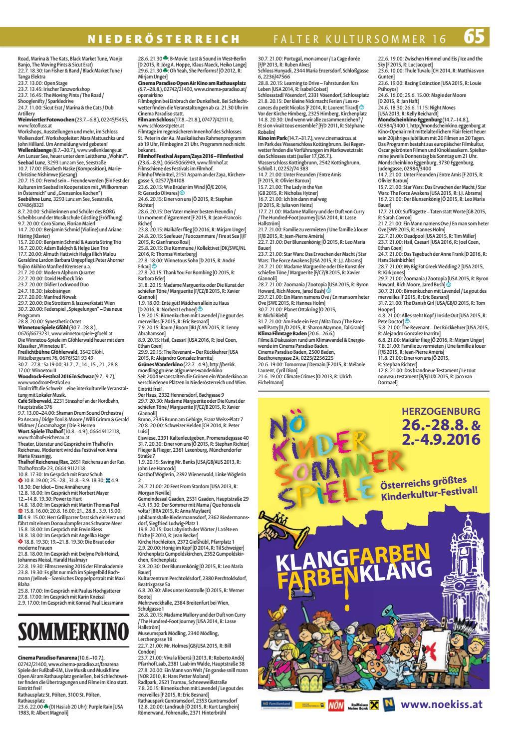 19+ FALTER Kultursommer 8 by Falter Verlagsgesellschaft m.b.H.   issuu Kollektion