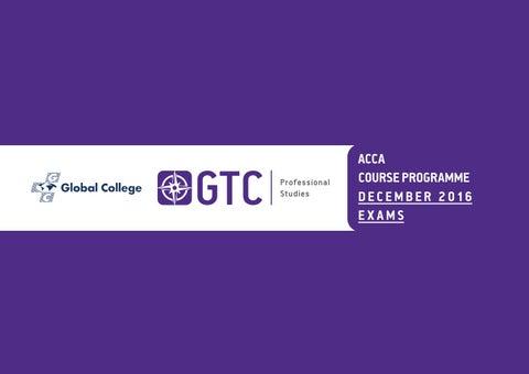 GTC Professional Studies-ACCA Course Programme Jul-Dec 16 by GTC