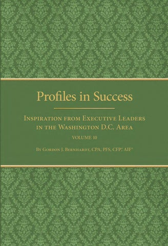 Profiles in successvolume 10 ebook by gordon j bernhardt issuu page 1 fandeluxe Gallery