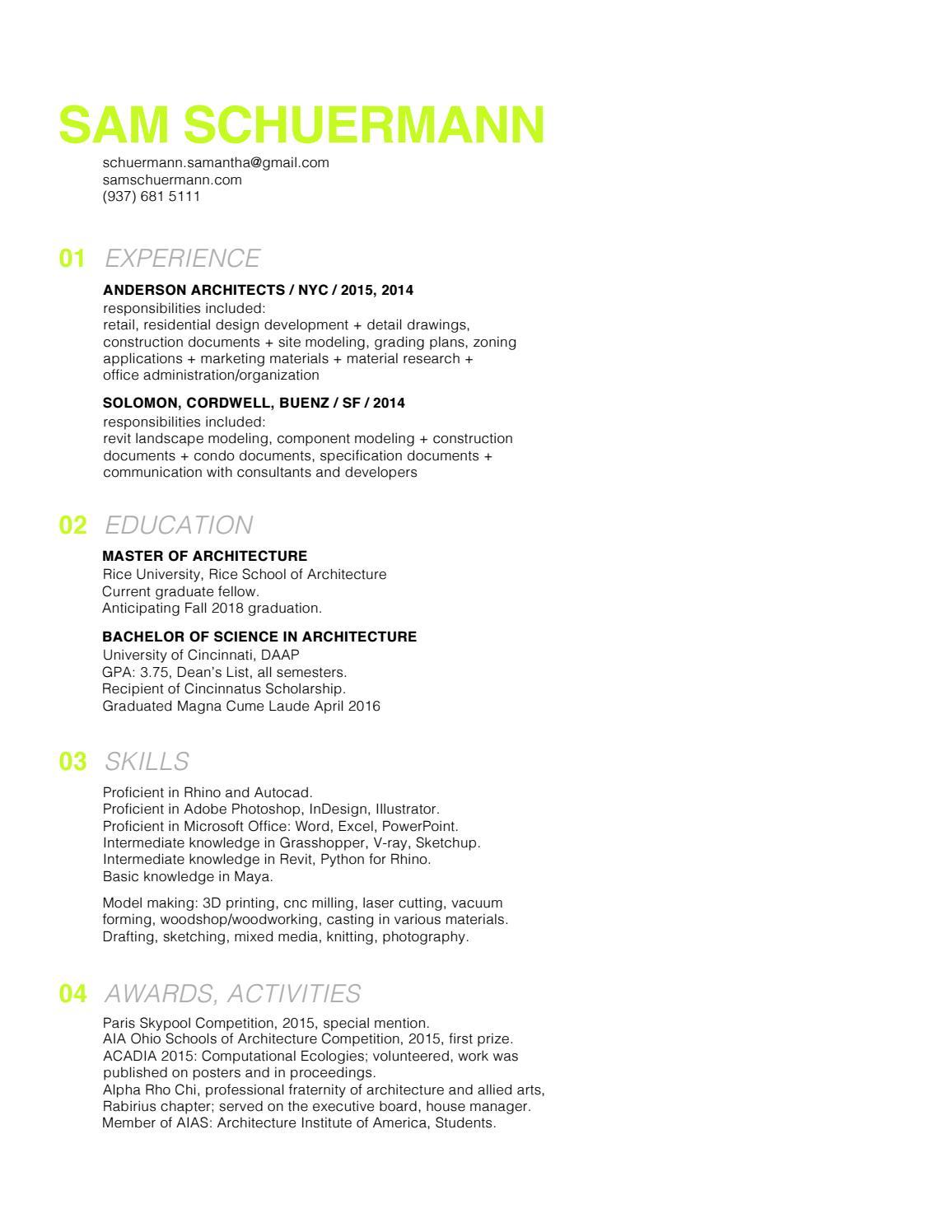schuermann resume2016 by sam schuermann issuu