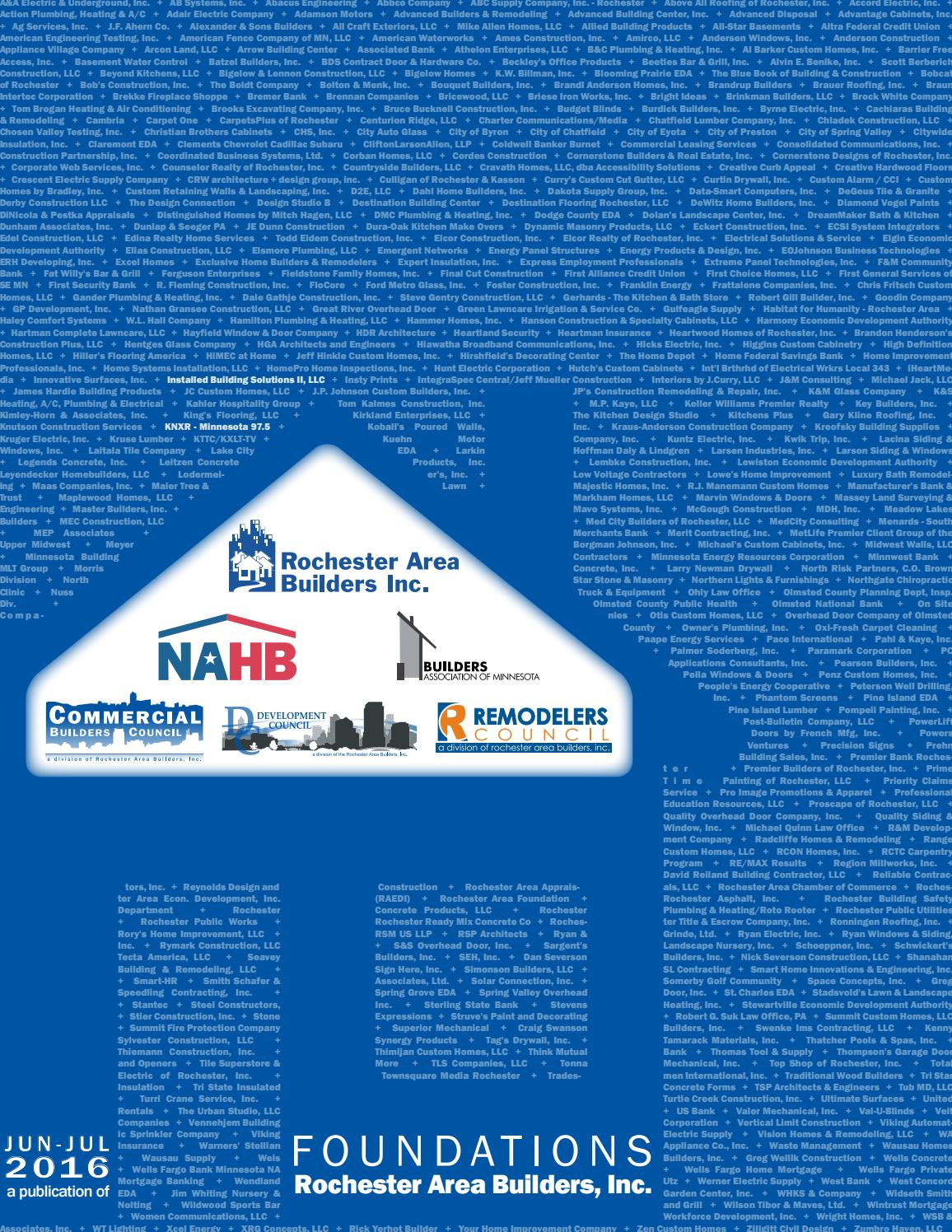 Foundations June July By Rochester Area Builders Inc Issuu