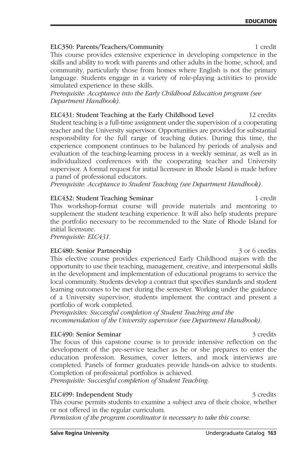 Salve Regina University Undergraduate Catalog 2013-2014 by ...