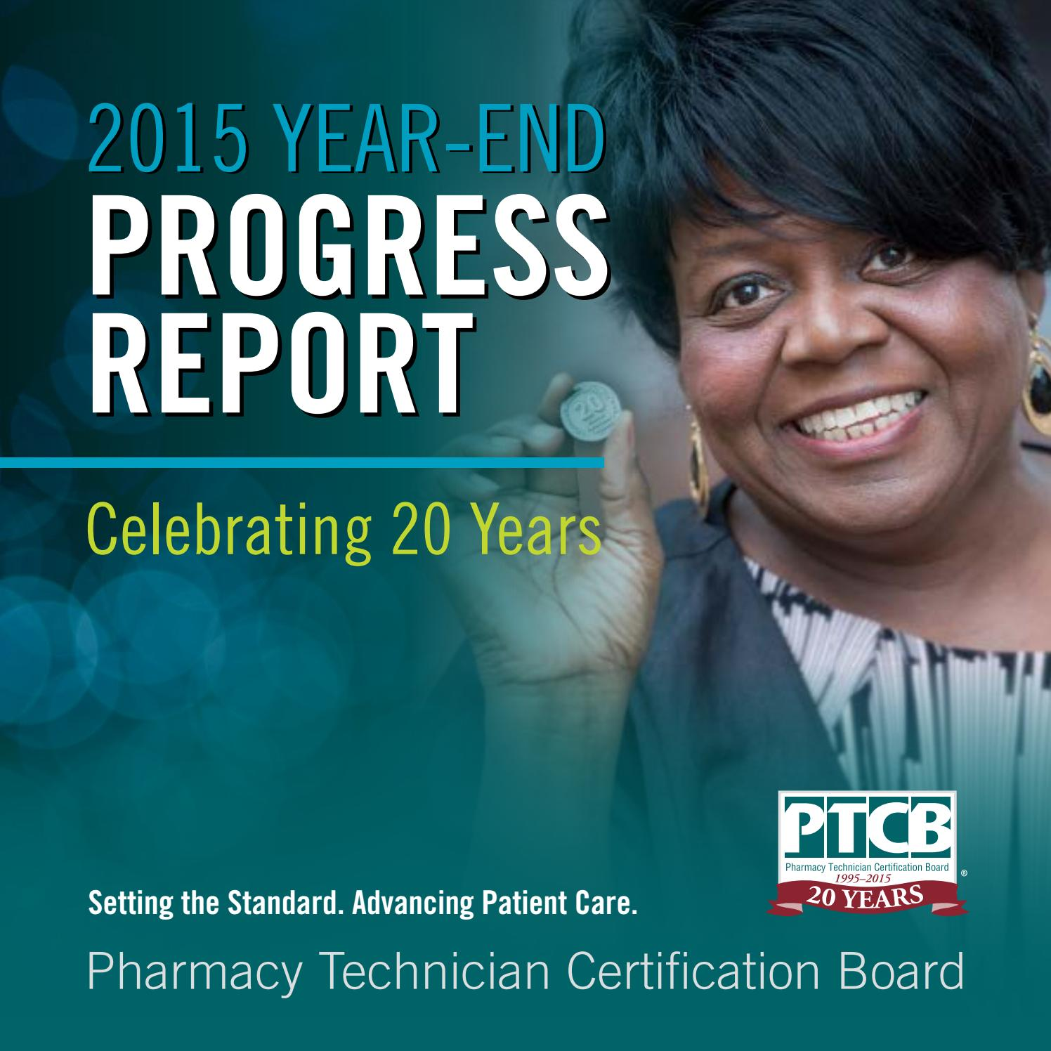 2015 Ptcb Progress Report Page By Page Format By Laura Humphrey Issuu