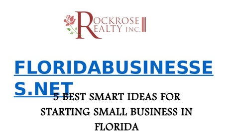 5 best smart ideas for starting small business in florida by