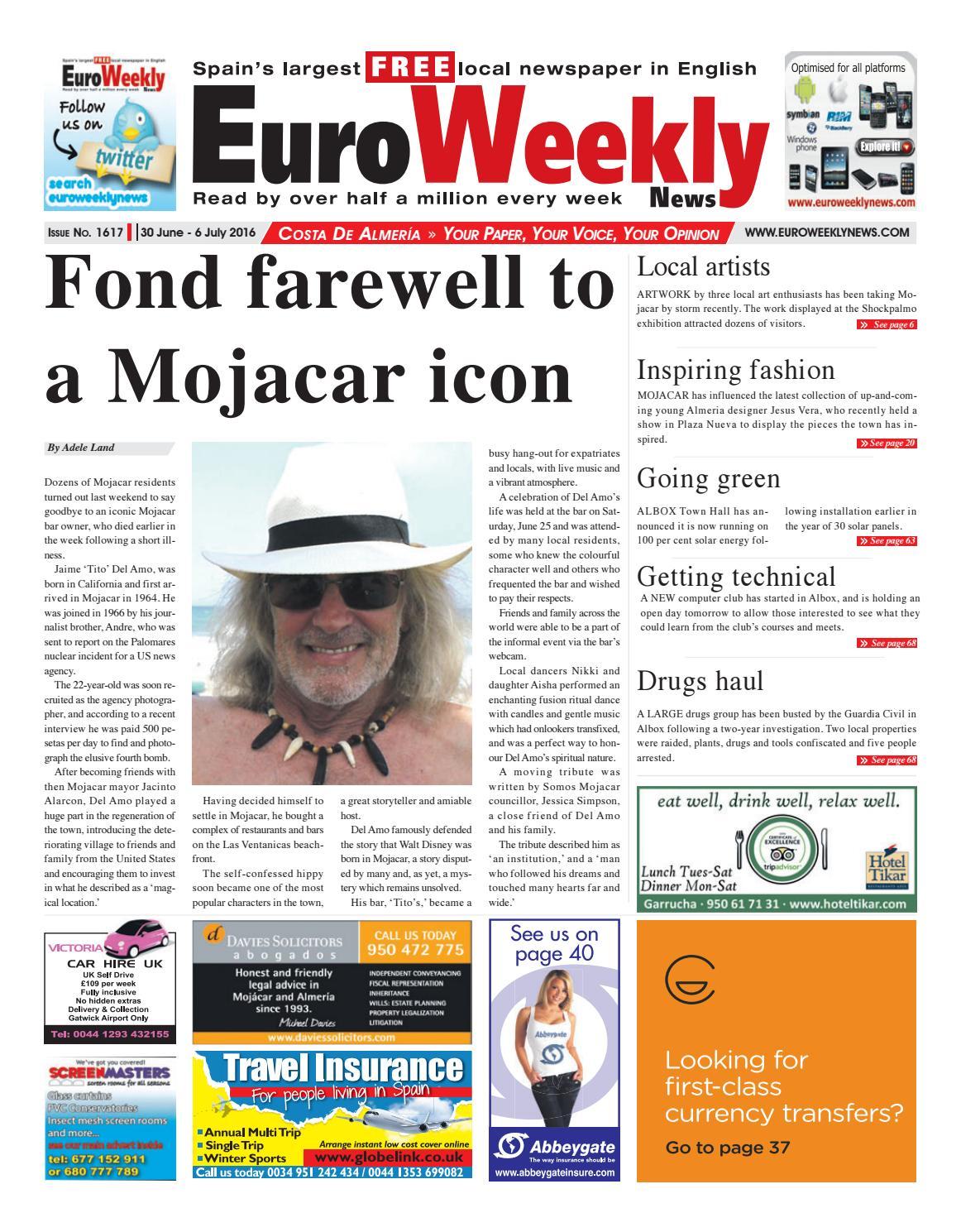 Euro Weekly News Costa De Almeria 30 June 6 July 2016 Issue  # Muebles Gayro Cadiz