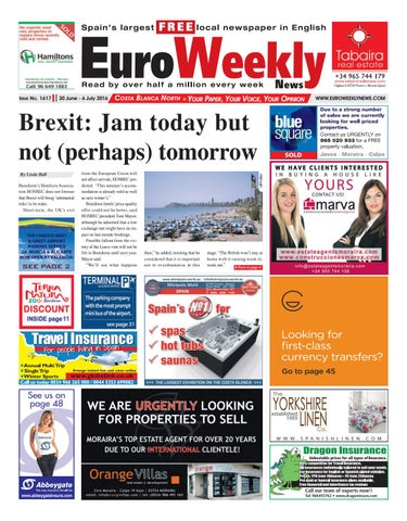 a32539ef3e7f0 Euro Weekly News - Costa Blanca North 30 June - 6 July 2016 Issue ...