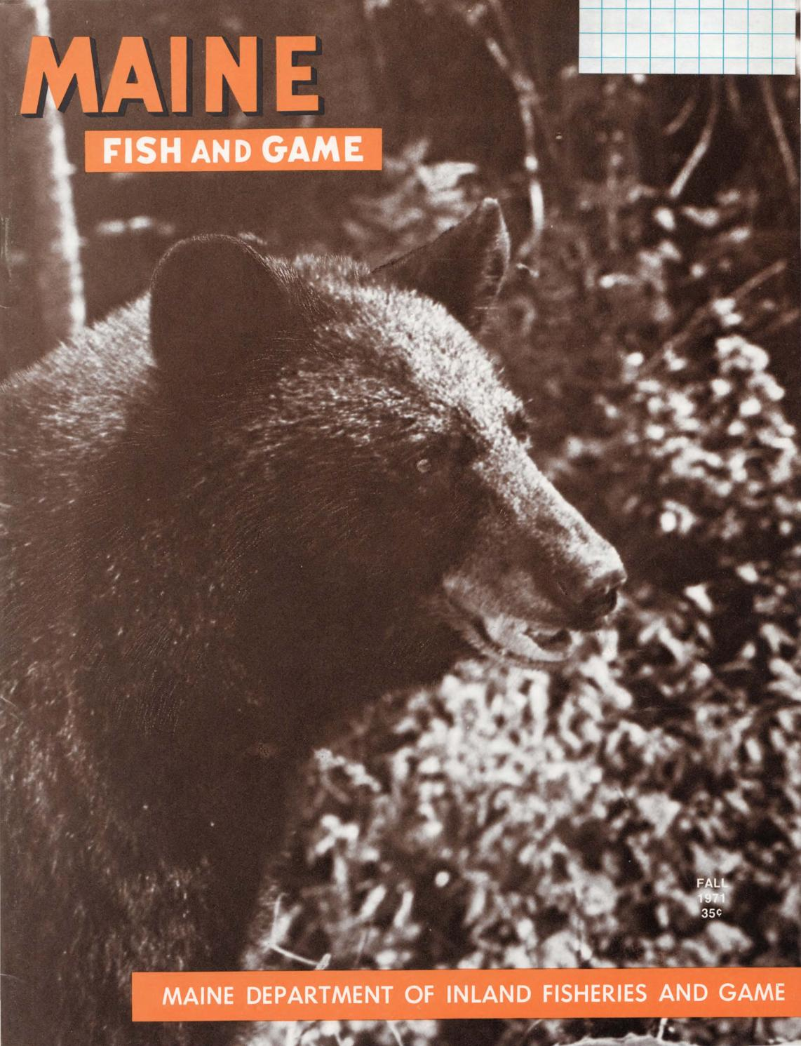 Maine fish and game magazine fall 1971 by maine state for Maine fish and game