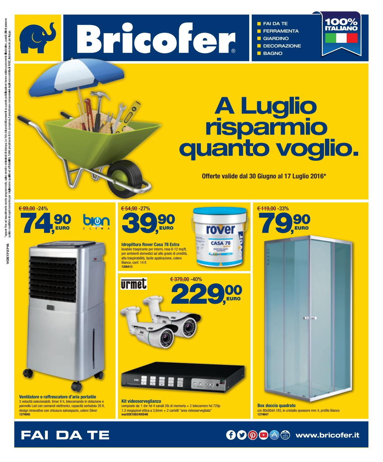 Volantino bricofer aversa luglio 2016 by bricofer aversa for Volantino bricofer