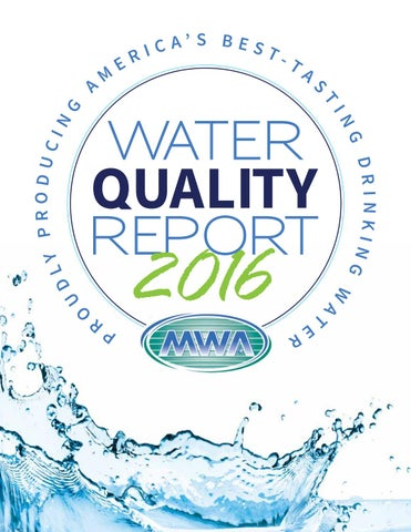 Mwa Water Quality Report 2016 By Mr Marketing Group Issuu