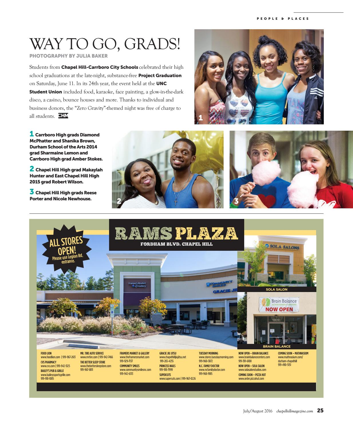 Chapel Hill Magazine July August 2016 By Shannon Media Issuu
