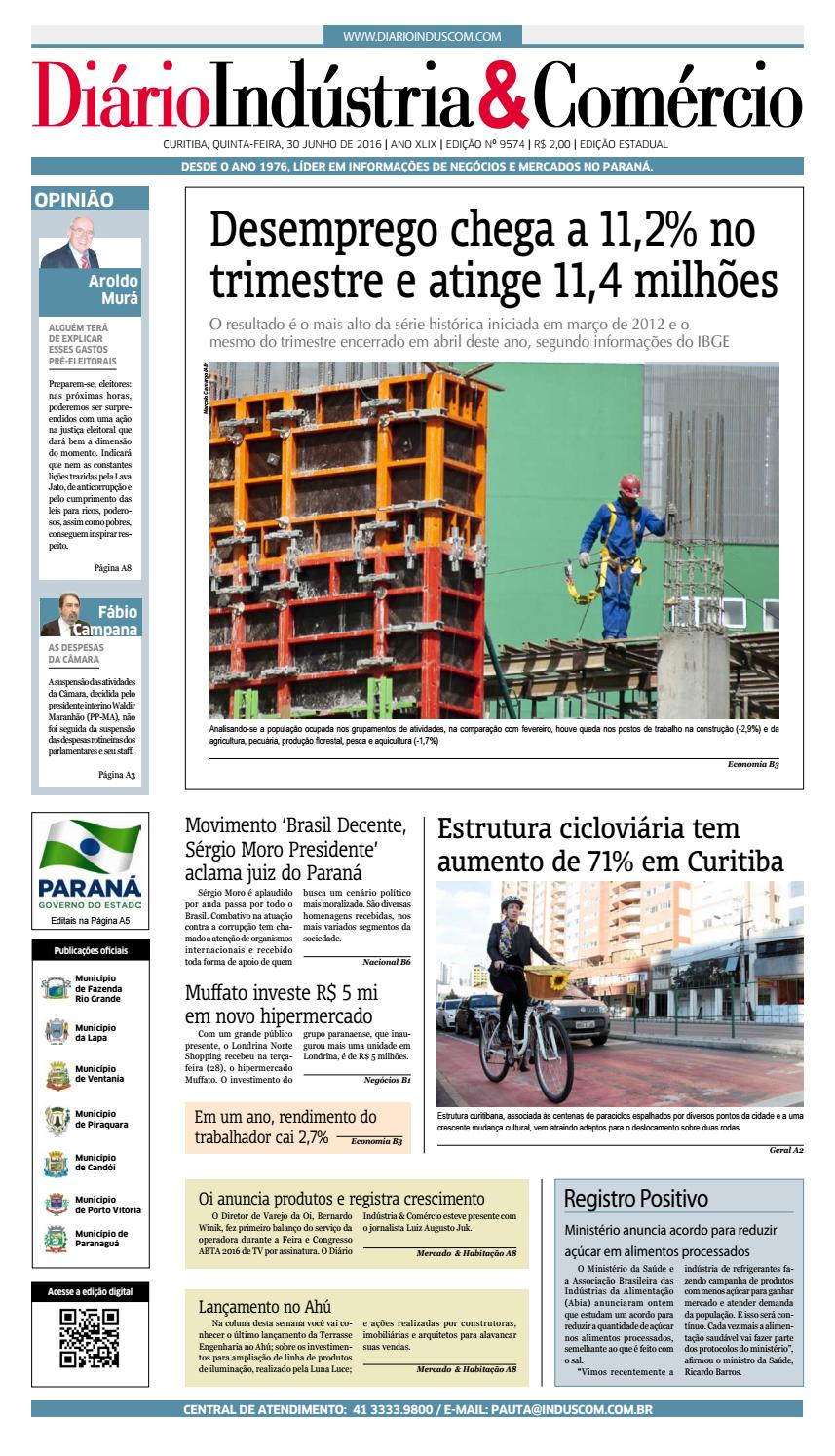 Diário Indústria Comércio - 30 de junho de 2016 by Diário Indústria    Comércio - issuu 6743c468581