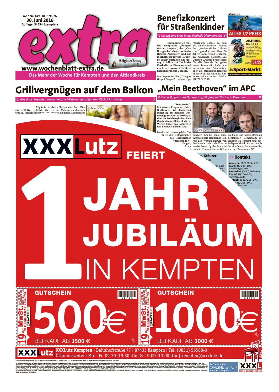 Extra Kempten Vom Donnerstag 30 Juni By Rtasign GmbH Issuu
