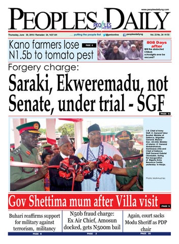Peoples Daily, Thursday, June 30, 2016  Edition