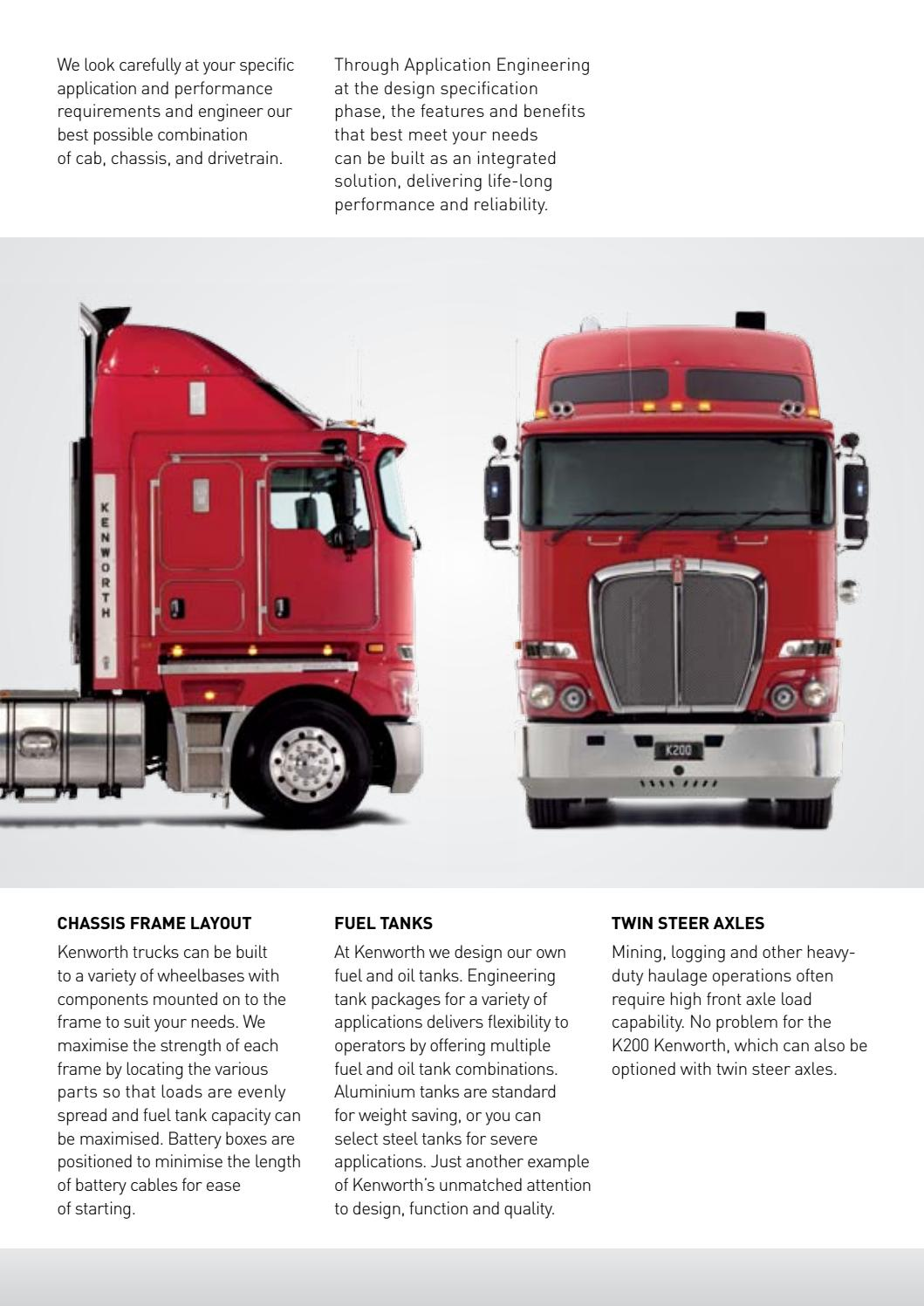 Kenworth K200 Brochure K200-0316W by PACCAR Australia - issuu