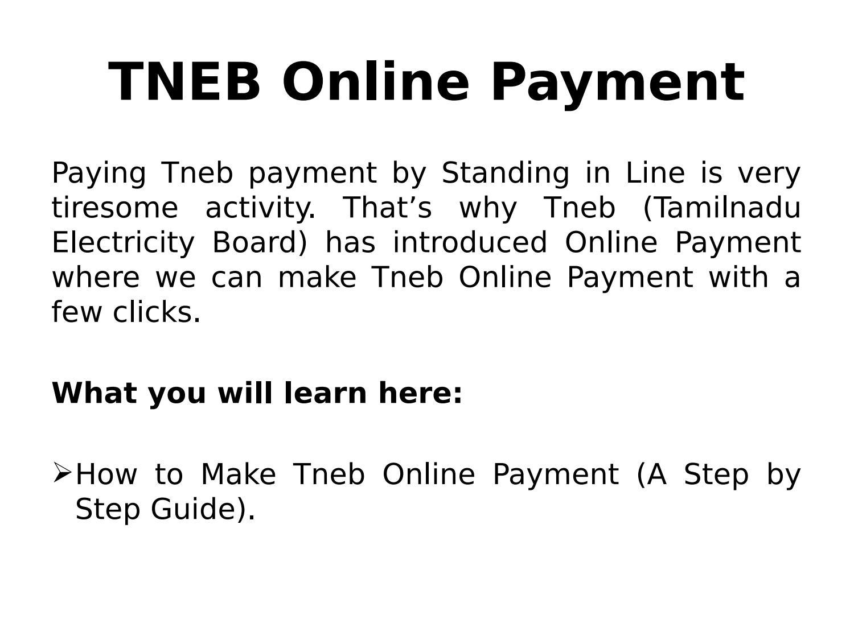 Tneb online payment by sheshidharreddy - issuu