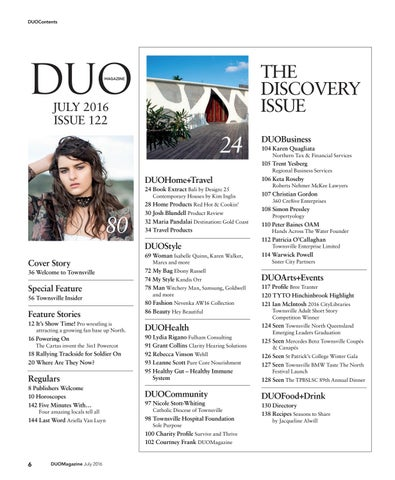 b3d59cf21c4 DUOContents. THE DISCOVERY ISSUE. JULY 2016 ISSUE 122
