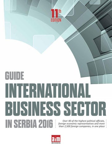 International Business Sector In Serbia 2016 By Cord Magazine Issuu