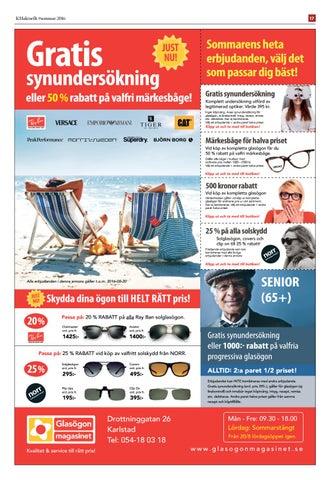 Page 19. KHaktuellt  sommar 2016. 17. Gratis. synundersökning 76c4a3252c176