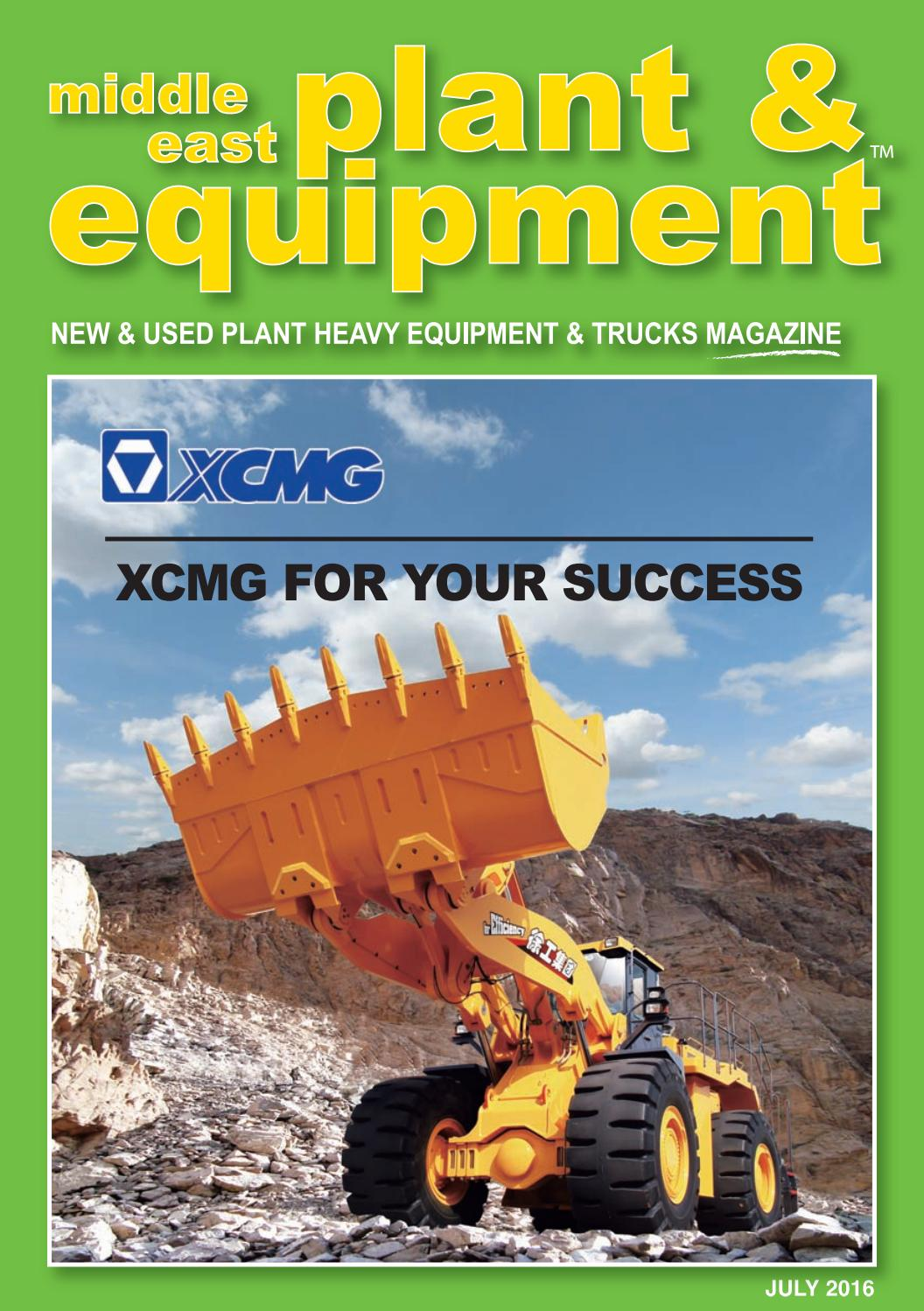 Middle East Plant & Equipment - July 2016 Edition by Middle East