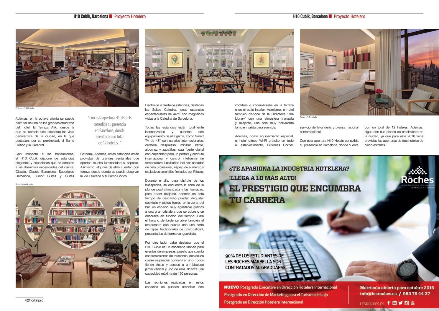 Reportaje Sobre El Proyecto Hotelero H10 Cubik Barcelona By