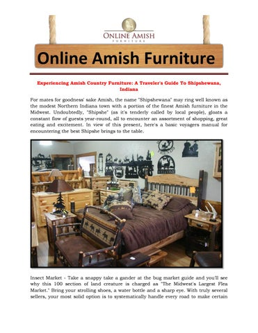 Experiencing Amish Country Furniture A Traveler S Guide To Shipshewana Indiana